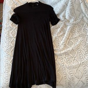 American Eagle Soft & Sexy Black Midi Dress